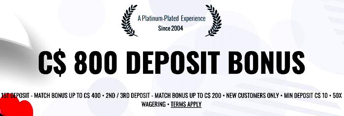 First Deposit Bonus – Platinum Play
